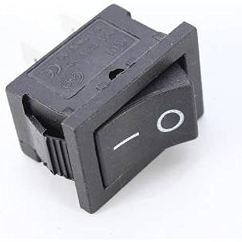 [Spedizione gratuita 7~12 giorni] 1pcs 2PIN snap-in on / off a bilanciere controllo interruttore nero (Snap In Rocker Switch)