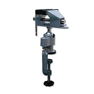 ABEST Mini-Tischklemme aus Aluminium und Gummi-überzogene Backen für Hobby, Schmuck, Basteln, Modellbau, Arbeit mit 360° drehbarem Kopf