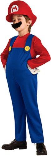 Super Mario Bros. Deluxe Kostüm Gr. 140/164 = Größe (Super Zubehör Kostüm Mario)