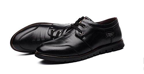 GRRONG GRRONG Herrenschuhe Lederschuhe Art Und Weise Handcrafted Echtes Leder Braun Schwarz Black
