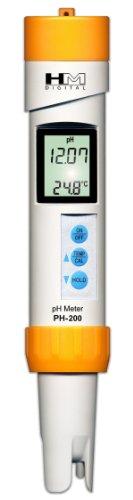 HMD ph-200Digital Professional Wasserdicht 0-14pH & Temperatur Meter (Hm Digital Ph-meter)