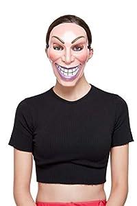 Smiffys 52401 Smiler Mask, Femenino, Unisex Adulto, Beige, Talla Única