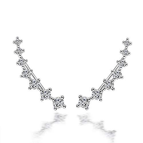 Damenschmuck Zirkonia-Kristallmanschetten Romantische Ohrringe Hübsche Einfache Retro Feine Stilvolle Süße Ohrringe -
