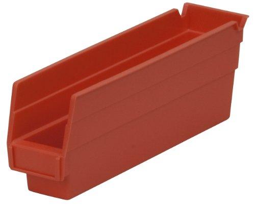 Akro-Mils 30110 Ablagebox aus Kunststoff, transparent, 30 x 7 x 10 cm, 24 Stück, 30110RED -