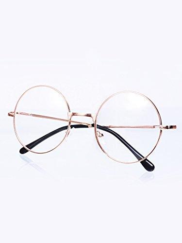 bd9d77838b Montature Occhiali da Vista in Metallo Tondo Occhiali Retrò Metallo ...