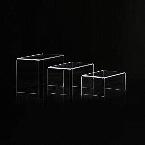3 expositores acrílicos de riesgo, acrílico, joyas, expositor de tartas, soporte para bolsa de cosméticos necesidades diarias, color transparente