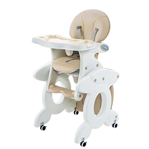 IMBM STYLE 3 In1 Babynahrungsstuhl, kann Schaukelstuhl Sein, kann Schreibtisch, Netter Baby-Hochstuhl Sein, kann 60KG Laden,Beige
