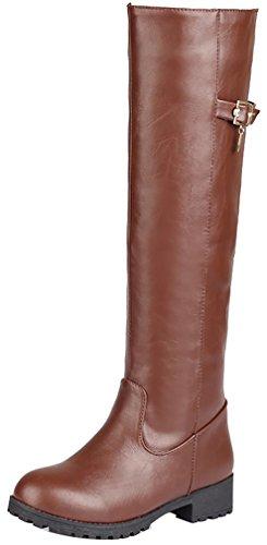 elehot-donna-elephotographer-senza-tacco-3cm-leather-stivali-marrone-405
