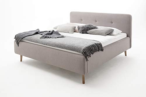 Polsterbett 160x200 cm Moderner Landhausstil, Bett mit Stoffbezug Altrosa Art Nr. 1476-10-4000