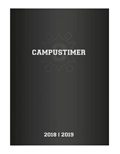 Campustimer Black - A5 Semesterplaner - Studentenkalender 2018/2019