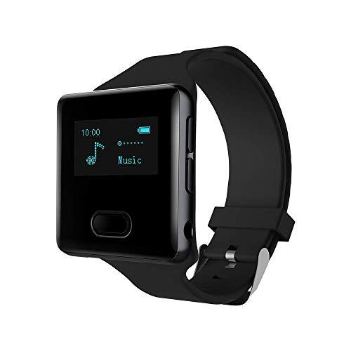 LHXHL Bluetooth MP3-Player, Bluetooth-Uhr, Student Watch Walkman, Stereo-Musik-Player, Handschlaufe, UKW-Radio-eBook und -Texte, Englischhören, Schrittzähler (16 GB) (Uhr Stereo)