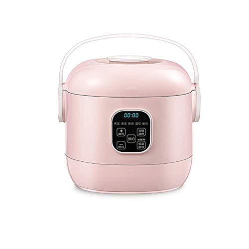 XIAOXIONG 2l 24-stunden Geplanter Termin Mini Reis Kocher Antihaftbeschichtung Porridge Intelligent 1-3 Menschen Home Pink