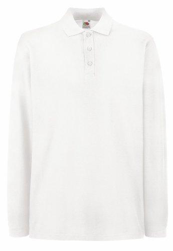 Fruit of the Loom - Premium Longsleeve Poloshirt White