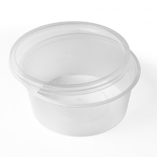 Thali Outlet - 50 x Round 10oz Microwave Clear Plastic Food Containers Freezing Takeaway Hot Cold Foods - 120mm (D) x 40mm (H) by Thali Outlet Leeds