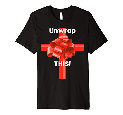Unwrap–Weihnachten T-Shirt für Männer, Frauen (Button-up-hawaiian-t-shirt)