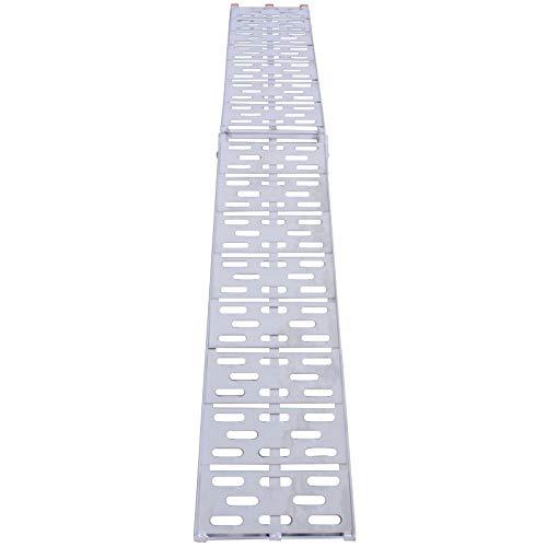 Rampe de Chargement - Lot de 1 ou 2 Pièces, Pliable, en Aluminium, Charge max. 340 kg ou 680 kg, Antidérapante, pour tous les Motos, Quads, Voitures, Remorques - Rampe, Rails d'Accès (Lot de 1 Rampe)