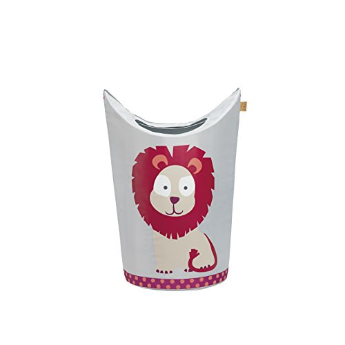 *Lässig 1541006717 4Kids Laundry Bag Wildlife Löwe, rosa*