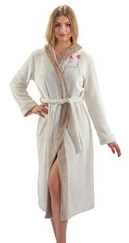 Sesto Senso® Albornoz Mujer Ducha Bata Baño Suave