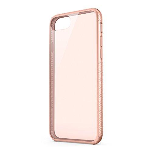 Belkin-Air-Protect-SheerForce-Pro-F8W808btC03-Funda-para-iPhone-7-doble-capa-y-marco-interno-rgido-absorbe-impactos-fina-y-ajustada-acceso-completo-al-puerto-rosa