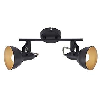 Briloner Leuchten Plafoniera con 2 faretti girevoli e orientabili in Stile rétro/Vintage – Compatibile con lampadine E14 Max. 40 Watt – Ideale per s