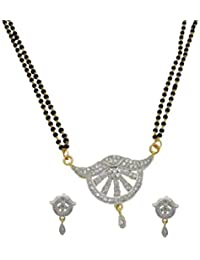 My Design AD Stone Daily Wear Mangalsutra Set For Women And Girls