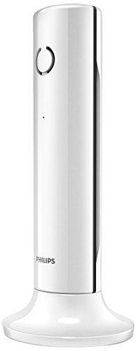 Philips M3301W/FR - Teléfono de escritorio (DECT, 50m, 300m, íconos, menu), color blanco (importado)