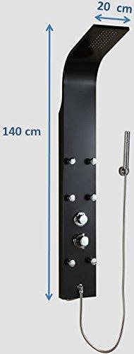 DP Grifería A-92 – Columna de hidromasaje de aluminio color negro