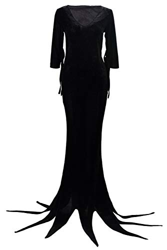RedJade Morticia Addams The Addams Family Outfit Kleid Suit Uniform Cosplay Kostüm Damen XL