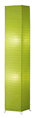 Reality Leuchten Papier Stehleuchte, 2xE27 maximal 60 W ohne Leuchtmittel, 130 cm, grün, R40122015