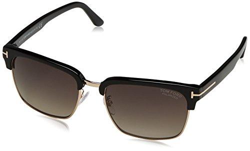 Tom Ford Herren FT0367 01D 57 Sonnenbrille, Schwarz (Nero Lucido/Fumo Polar),