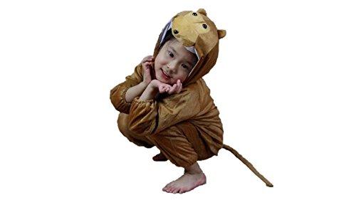 Matissa Kinder Tierkostüme Jungen Mädchen Unisex Kostüm Outfit Cosplay Kinder Strampelanzug (AFFE, XL (Für Kinder von 120 bis 140 (Socke Affe Kostüm Mädchen)