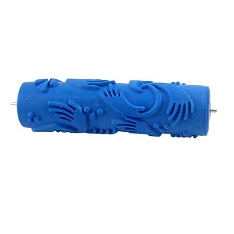 DealMux Home Wand Dekorative Blaue Soft Rubber Flügelmuster Roller