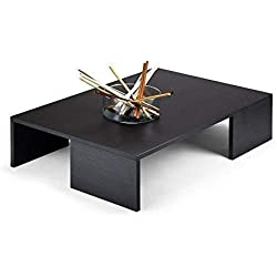 Mesa de centro moderna pino negro