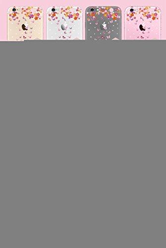Custodia per iPhone 8, Cover per iPhone 7, Bonice Design Marmo Modello Effetto Naturale Back Cover Ultra Sottile Trasparente Silicone Cristallo Morbido TPU Protettiva Cover Case Della Protezione Anti- Custodia 12