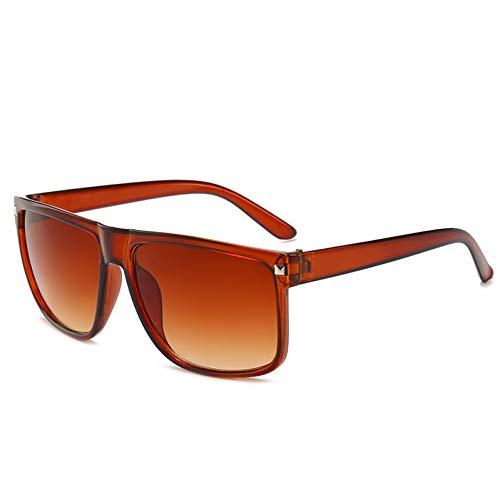 Yuanz Frauen Männer Übergroße Sonnenbrille Retro Big Frame Sonnenbrille Weibliche Retro-Brille Männer Shades,2