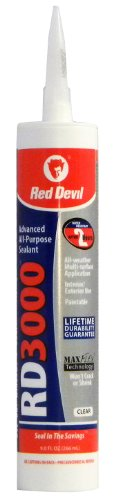 Red Devil 0987 RD 3000 Advanced All-Purpose Sealant, 9.0-Ounce, Clear by Red Devil