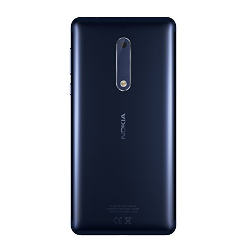 Nokia 5 SIM doble 4G 16GB Azul - Smartphone  13 2 cm  5 2    16 GB  13 MP  Android  7 1 1 Nougat  Azul
