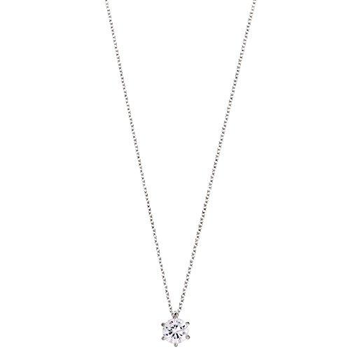 XENOX XS7211 Damen Collier Silver Circle Sterling-Silber 925 Silber weiß Zirkonia 45 cm