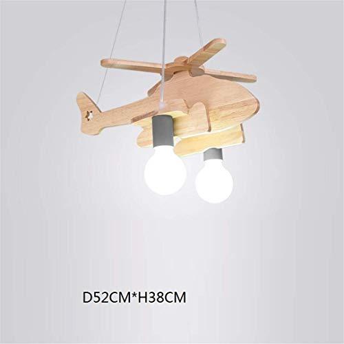 GD1 Plafonnier Nordic Simple pour Enfants Lampe Fille Princesse Avion Lumières en Bois Massif Dessin Animé Garçon Bébé Chambre Creative Chambre Lustre