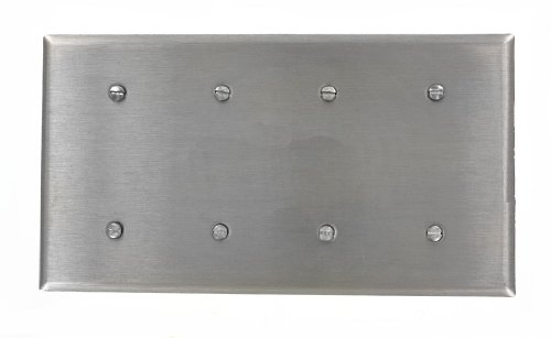 leviton-84057-40-4-gang-no-device-blank-wallplate-strap-mount-stainless-steel-by-leviton
