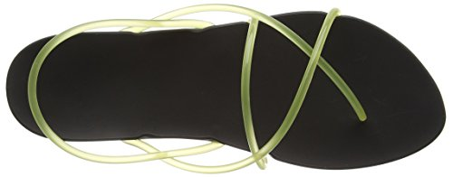 Ipanema Philippe Starck Thon G Fem, Tongs femme Noir - Schwarz (black/yellow 8476)