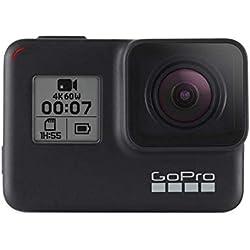 GoPro HERO7 Black - Caméra numérique embarquée étanche avec écran tactile, vidéo HD 4K, photos 12 MP, diffusion en direct et stabilisation intégrée