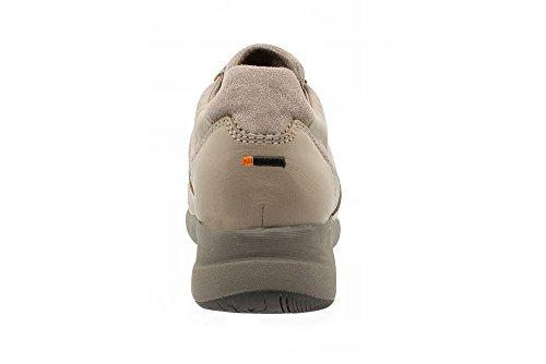 T-Shoes - Olympia TS044 - Sneakers en Cuir et Suede Marron