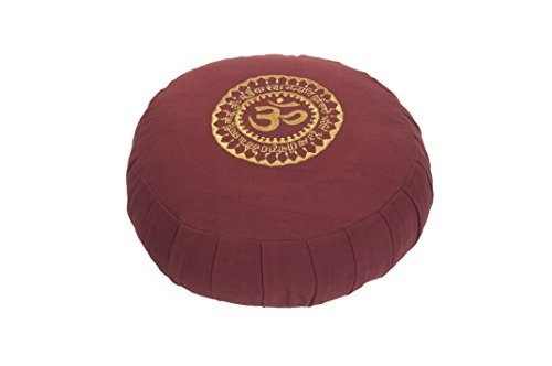 Kanyoga Baie Hemp Coussin de méditation Coton Mix Om Zafu(13cm x 18cm),1 Pièce