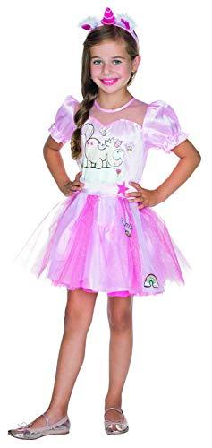 Rubie's Theodor Kleid Deluxe Größe 140 Kinder pink Einhorn Karneval Fee Prinzessin Kostüm (Deluxe Kinder Pink Hexe Kostüm)
