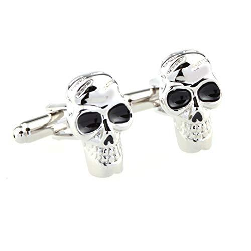 ür Herren, Pirate Skull Halloween Gespenst Kopf Einzigartige Französische Manschette Schnalle, Sparkly Geschenk Modisches Shirt Zubehör Für Buchhalter Boss Business Hochzeit P ()