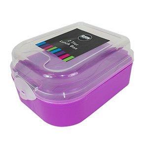 2Etagen Brotdose violett Batman Metall Lunch-box