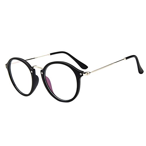 Deylaying Retro Kurz Entfernung Brillen Cat Eye Groß Runden Rahmen Kurzsichtigkeit Kurzsichtig Brille Blau Licht Filter Linsen (Stärke -1.0, Matt Schwarz) (Diese sind nicht Lesen Brille)
