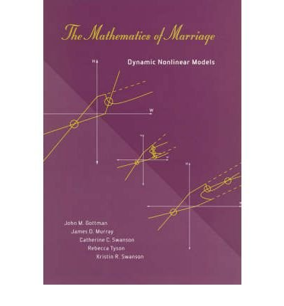 By John M Gottman ; James D Murray ; Catherine Swanson ; Rebecca Tyson ; Kristin R Swanson ( Author ) [ Mathematics of Marriage: Dynamic Nonlinear Models Bradford Books By Jan-2005 Paperback