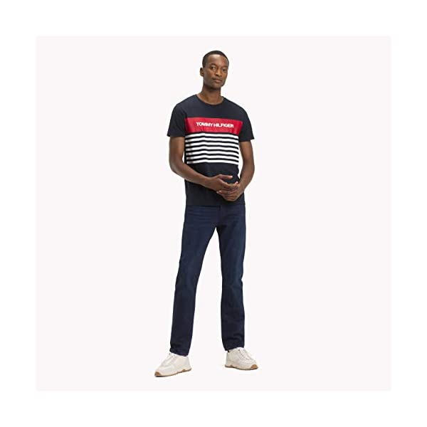 Tommy Hilfiger WCC Colour Block Stripe tee Camiseta para Hombre